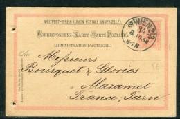 Autriche - Entier Postal De Wien Pour La France En 1898  Réf O 264