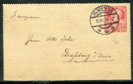 Autriche - Entier Postal De Wien Pour Strasbourg En 1909  Réf O 265