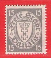MiNr. 195 X (Falz)  Deutschland Freie Stadt Danzig