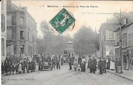 08 - MEZIERES - Faubourg Du Pont De Pierre - Animation - Circulé En 1909 - Ed. Dupuis - Autres Communes
