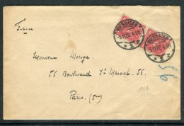Allemagne - Enveloppe De Wiesbaden Pour La France En 1922 , Affranchissement Paire  Réf O 270