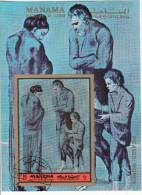 """Bf. 234B Manama 1972 """" Poveri In Riva Al Mare """" - Quadro Dipinto Da P. Picasso -  Preobliterato Paintings Tableaux - Manama"""