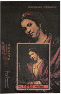 """Bf. 199B Manama 1972  """" Hendrickje Stoffels ... """"  Quadro Dipinto Di Rembrandt Preobliterato Barocco Paintings Tableaux - Manama"""