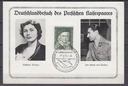 """Bund 1955 Sonderkarte """"Deutschlandbesuch Des Persischen Kaiserpaares"""" SSt Oberstdorf Auf 204"""