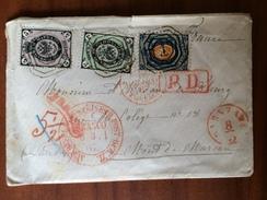 RUSSIE RUSSIA LETTRE COVER 1867 Yvert Num 6 ( Dentelé 12 ) Et 12-13 (dentelé 15) Pour Mont De Marsan Tricolore Superbe - 1857-1916 Empire