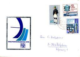 RDA. N°1985-6 De 1978 Sur Enveloppe Commémorative Ayant Circulé. Journée Des Télécommunications.