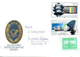 RDA. N°2154-5 De 1980 Sur Enveloppe Commémorative Ayant Circulé. Antenne/Télévision.