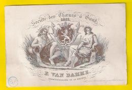 PORSELEINKAART SOCIETE ROYAL DES CHOEURS DE GAND 1853 F VAN DAMME GENT KOOR Choeur Musique Litho CARTE PORCELAINE P119 - Gent
