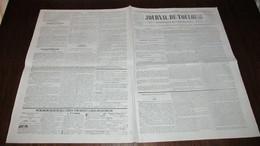 CORNEBARRIEU - INONDATION DE 1845 - SOUSCRIPTION - JOURNAL DE TOULOUSE DE SEPTEMBRE 1845. - Journaux - Quotidiens