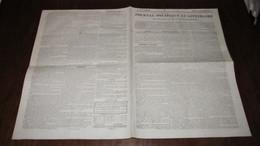 CORNEBARRIEU - VENTE DE CHÊNES NOIRS - DOMAINE DU PREVOST ET CASSE - JOURNAL DE TOULOUSE DE 1837. - Journaux - Quotidiens