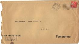 Lettre Du Danemark Pour Les Iles Féroé  Oblitérée Janvier 1933. - Covers & Documents