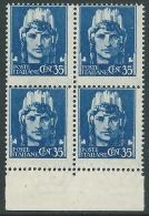 1929-42 REGNO IMPERIALE 35 CENT QUARTINA MNH ** - CZ40-2 - 1900-44 Victor Emmanuel III