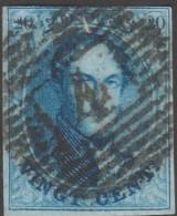 Belgique 1861 COB 11. Oblitération P 4 Anvers