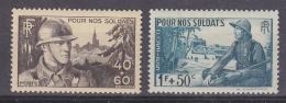 France 1940 Pour Nos Soldats 2v ** Mnh (33114)