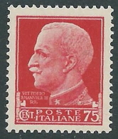 1929-42 REGNO IMPERIALE 75 CENT MNH ** - CZ33-2 - 1900-44 Victor Emmanuel III