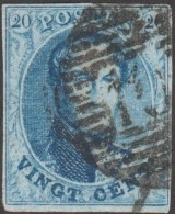 Belgique 1861 COB 11 Oblitération P 102 Roulers ??. Papier Très Mince, Point Clair
