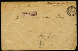 A4304) DR POW Kriegsgefangenenbrief Von Merzweiler 19.11.15 Nach Kopenhagen Zensur Hagenau - Deutschland