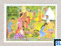 Sri Lanka Stamps 2006, Post Day, Bicycle, Cycling, Postman, Postbox, Temple, Buddha, Buddhism, MNH