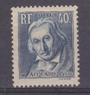 France 1934 Jacquard 1v ** Mnh (33114C)