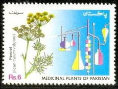 1993 Pakistan Saunf, Fennel, Medicinal Plants Series, Flowers, Chemistry (1v) MNH (PK-45)
