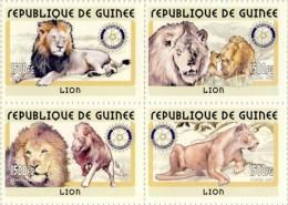 GUINEA REP. 2001 ** Leo Lion Löwen 4v - OFFICIAL ISSUE - L2001