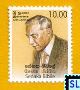 Sri Lanka Stamps 2006, Senaka Bibile, MNH