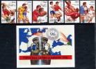 AZERBAIJAN 1996 European Football Championship 6v + Block MNH / **. - Azerbaïjan