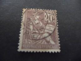 TIMBRE  DE  FRANCE     N  113  OBLITERE   TYPE  MOUCHON  1900   COTE  10  EUROS