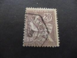 TIMBRE  DE  FRANCE     N  126  OBLITERE   TYPE  MOUCHON  1902   COTE  16,00  EUROS
