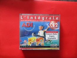 JEU PC L'integrale ADI CE2 (francais,math,anglais,geo 6 Cd ) - Jeux PC
