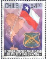 Ref. 303339 * MNH * - CHILE. 1981. II CONGRESO SUDAMERICANO DE POLICIA UNIFORMADA