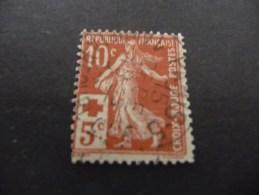 TIMBRE  DE  FRANCE     N  147  OBLITERE   CROIX  ROUGE  1914   COTE  4,00  EUROS
