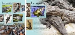 Togo 2014, Animals, Crocodiles, 4val In BF +BF
