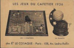 CPA Publicité Publicitaire Réclame Non Circulé Jeu Du Cafetier PARIS - Publicité
