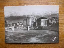 Grenoble , Pont De La Porte De France Et Les Alpes