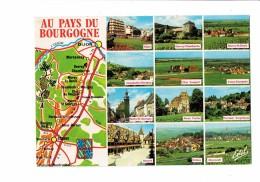 Cpm - Au Pays Du Bourgogne - CARTE GEOGRAHIQUE Vin RAISIN - Meursault Gevey Nuits Aloxe Vosne Volnay Morey Beaune