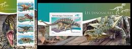 Togo 2014, Animals, Dinosaurus I, 4val In BF +BF