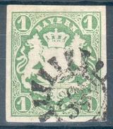 Bayern,Mi.-Nr.14ao, N.-Stempel 500,  Pracht