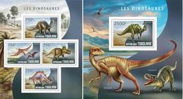 Togo 2014, Animals, Dinosaurus II, 4val In BF +BF