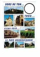 Cpm - PAYS BOURGUIGNON - Carte à Trou - Meursault Dijon Semur Beaune Auxonne Aloxe Gevrey La Roche Pot