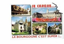 Cpm - BOURGOGNE - Carte à Trou - Chateauneuf Semur En Auxois Beaune Dijon La Roche Pot