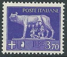 1929-42 REGNO LUPA 3,70 LIRE MNH ** - CZ36-7 - 1900-44 Victor Emmanuel III