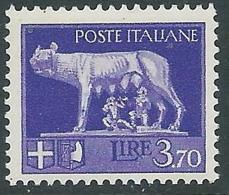 1929-42 REGNO LUPA 3,70 LIRE MNH ** - CZ36-9 - 1900-44 Victor Emmanuel III