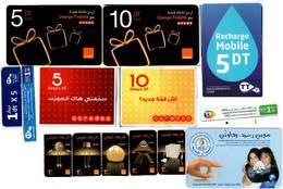 Lot De 14 Télécartes Différentes Orange, Ooredoo Et TT/ Tunisie