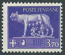 1929-42 REGNO LUPA 3,70 LIRE MNH ** - CZ37-4 - 1900-44 Victor Emmanuel III
