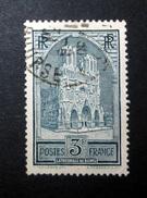 FRANCE 1930 N°259I OBL. (CATHÉDRALE DE REIMS. 3F ARDOISE. TYPE I)