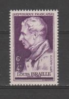 FRANCE / 1948 / Y&T N° 793 ** : Louis BRAILLE - Gomme D´origine Intacte