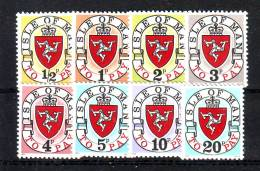 Isle Of Man 1973 Y Porto Stamps Mi No 1-8 MNH