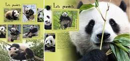 Togo 2014, Animals, Pandas, 4val In BF +BF