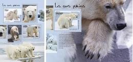 Togo 2014, Animals, Polar Bear, 4val In BF +BF